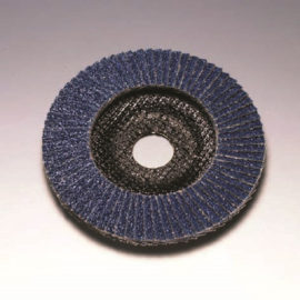 Salmon 115 x 22 mm Diameter Angled Flap Discs. Fibreglass Backed [Series 2824]