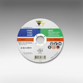 Promax 115 x 22.23 mm Flat Cutting Discs for Stainless Steel [Series T41]
