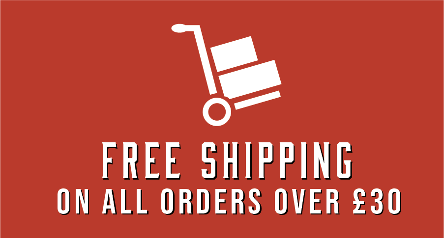 Free shipping on all orders over £30
