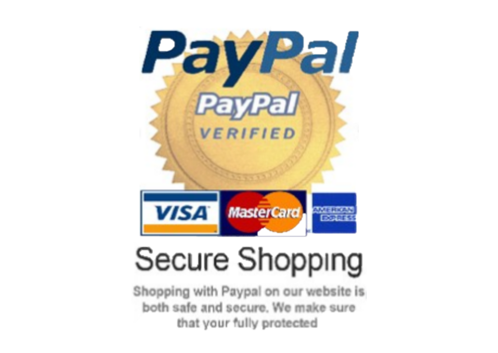 Paypal and Worldpay accepted at the checkout